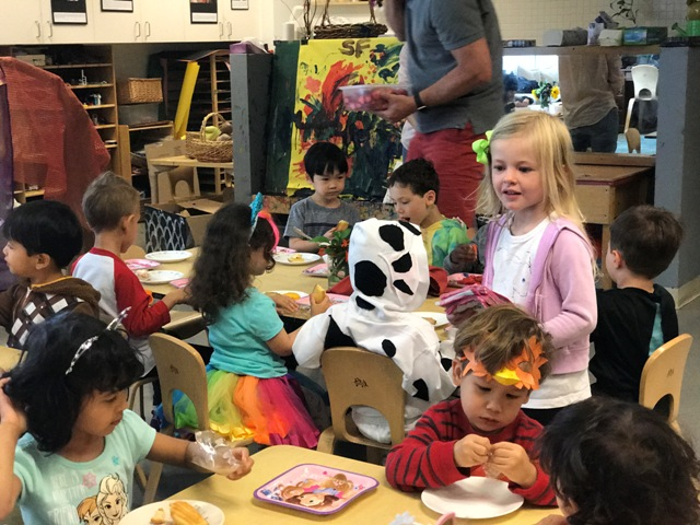 Instead of holidays, we celebrate children's birthdays, project completions, and other emergent curriculum events