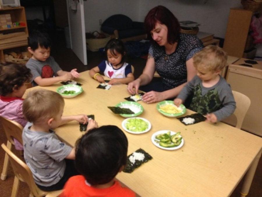Preschool Sushi Prep