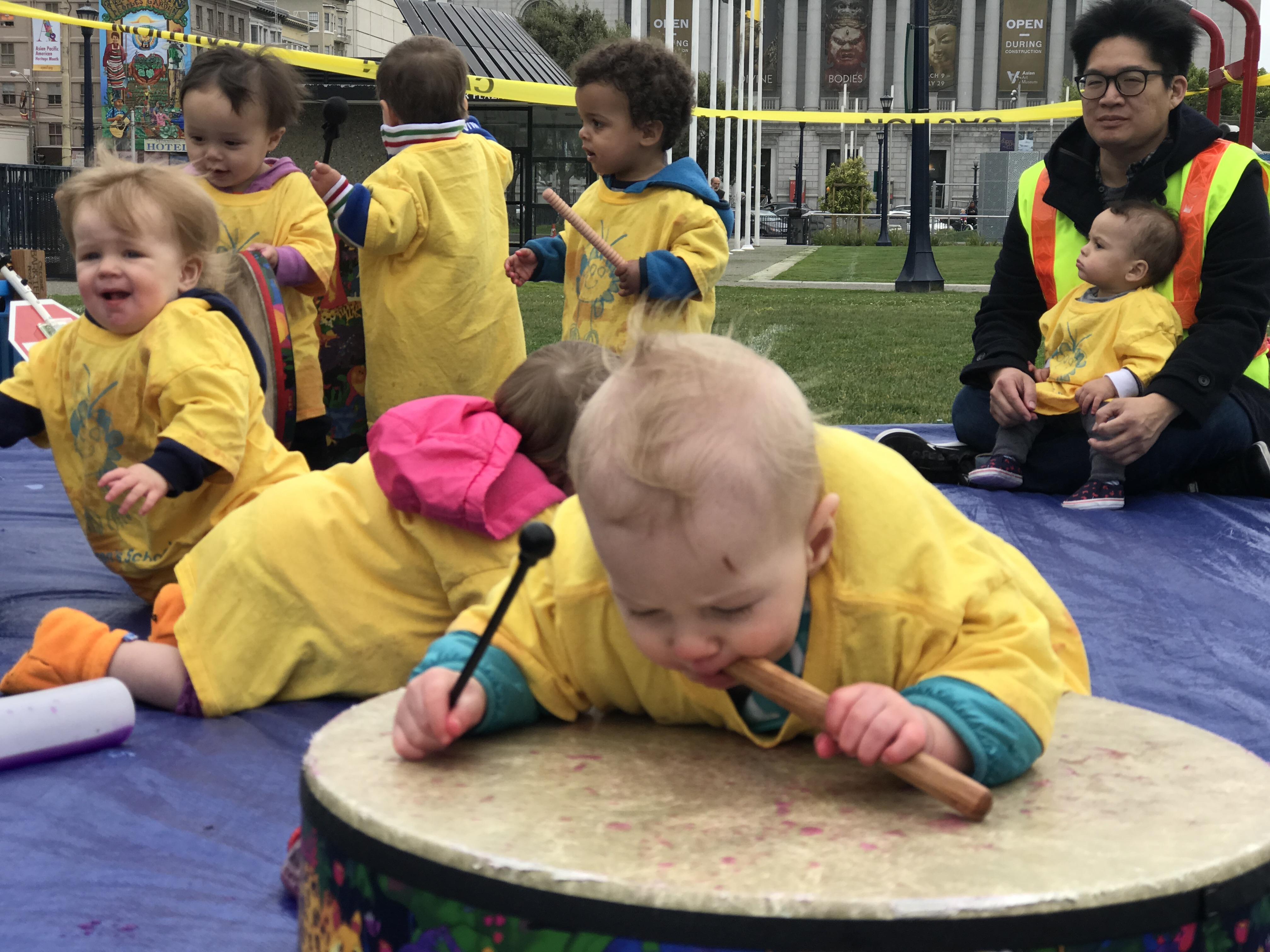 Toddlers Drumming