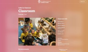 Private Website Classroom Page